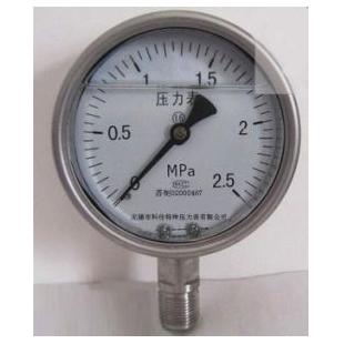 无锡不锈钢耐震压力表Y-150B/Z