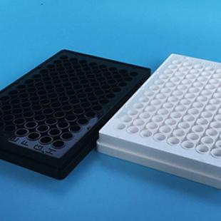 上海晶安全黑全白96孔酶标板 白色发光检测96孔板 黑色荧光96孔板
