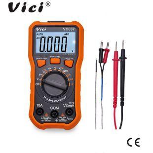 维希VICI 6000字显示真有效值NCV数字万用表VC837 照明背光