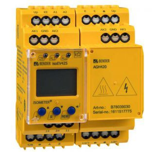 德国本德尔接地故障监控,不接地带AGH420的ISOMETER®isoEV425
