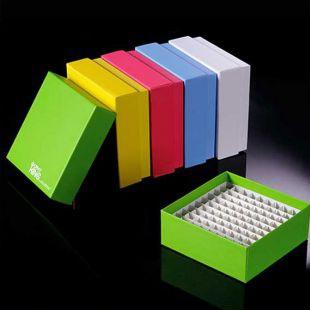 山东巴罗克彩色翻盖高端纸冷冻盒2英寸81格90-6281