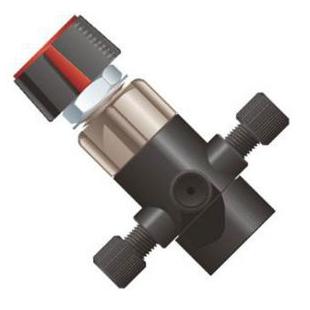 微流控专用4端口手动切换阀 (注射泵用流体切换)