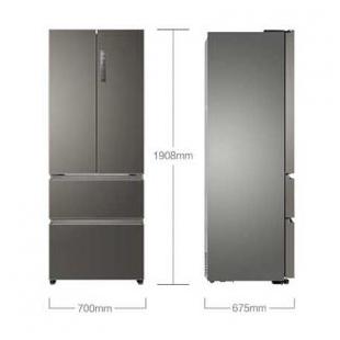 海尔电器440升双变频风冷无霜法式多门冰箱