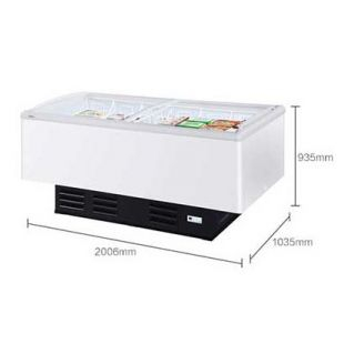 海尔冰柜冷藏冷冻雪糕柜商用大容量冷柜岛柜
