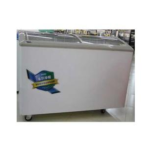 海尔卧式透明玻璃门商用冷冻柜冰柜大容量