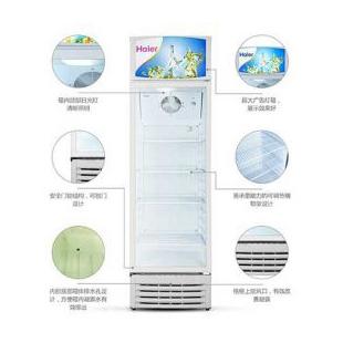 海尔冷柜立式冷藏柜保鲜展示冷柜冰吧啤酒饮料冰柜立式单门冰柜玻璃门展示柜