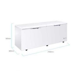 海尔大容量保鲜冷冻两用卧式冷柜