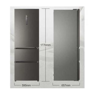 海尔电器310升双变频风冷无霜三门冰箱
