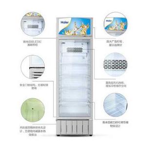 海尔立式保鲜冰柜冷藏饮料柜单门展示冷柜水果啤酒保鲜柜