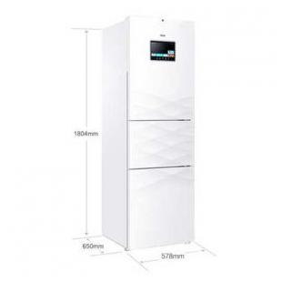 海尔电器251升风冷无霜三门冰箱