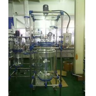 南通三晶双层玻璃反应釜PGR-100