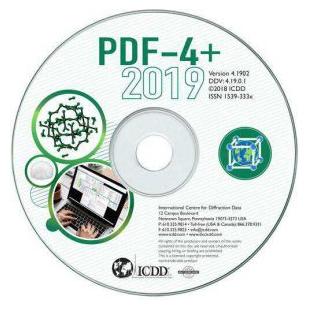 ICDD PDF-4+2019 衍射数据库卡片