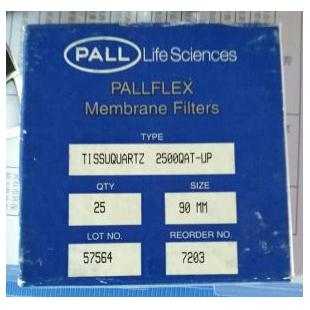 PALL颇尔 Pallflex石英过滤膜8x10in.Tissuquartz Filters7204