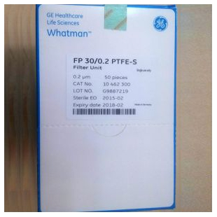 GE Whatman Puradisc FP30mm针头式滤器聚四氟乙烯0.2µm10462300