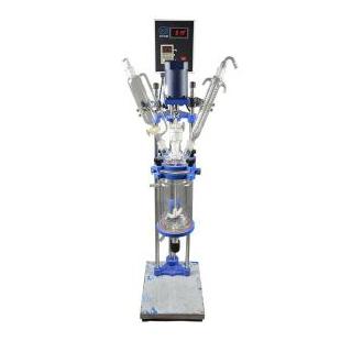 实验室小型双层玻璃反应釜多功能反应器