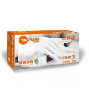 施瑞康 F840 乳胶手套 大/中/小 无粉乳胶、弹性佳