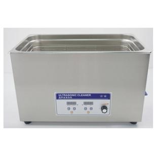 实验室小型液晶屏调温调频超声波清洗机