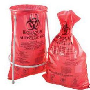 雷索 高壓滅菌袋 生物垃圾袋-BIOHAZARD紅色–帶有警示說明和滅菌指示功能