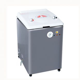75B 立式75L不锈钢蒸汽灭菌器 自动补水压力蒸汽消毒 上海新诺