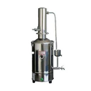 5L 立式不锈钢蒸馏水机 DZ5 实验蒸馏水仪 上海新诺