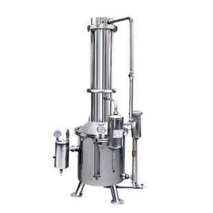 TZ100 塔式蒸馏水制水机 100L不锈钢蒸馏水器 上海新诺