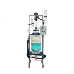 上海新诺 S212-5L 双层玻璃反应釜实验室小型化工蒸馏不锈钢搅拌器5L