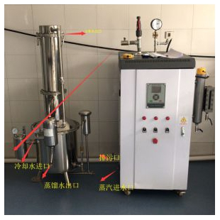 TZ200不锈钢塔式蒸汽重蒸馏水器200升/时蒸馏器