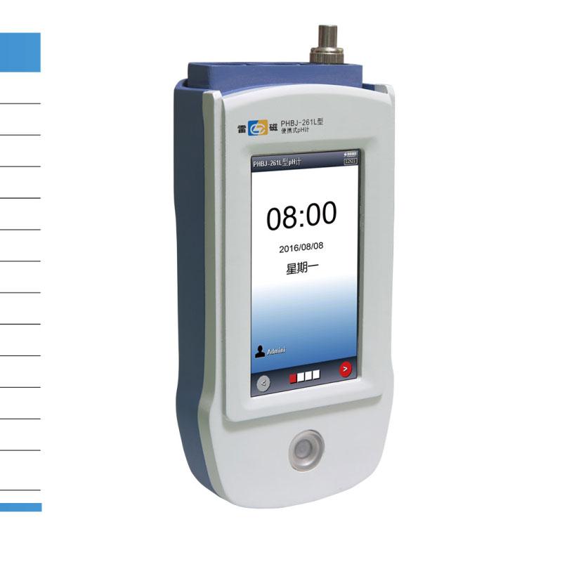 PHBJ-261L便携式pH计4.3英寸触摸屏