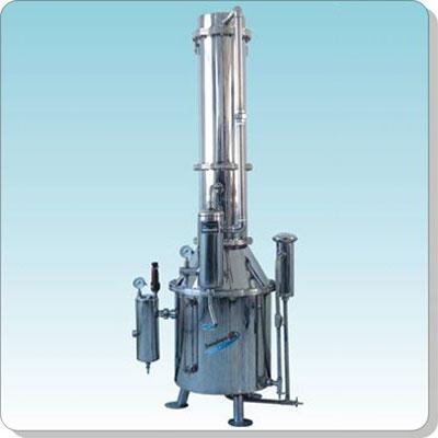 上海三申TZ100不锈钢塔式蒸汽重蒸馏水器