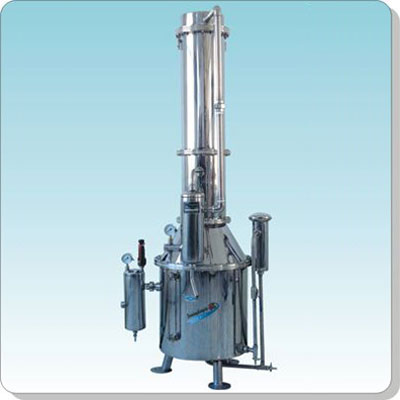 上海三申TZ400不锈钢塔式蒸汽重蒸馏水器