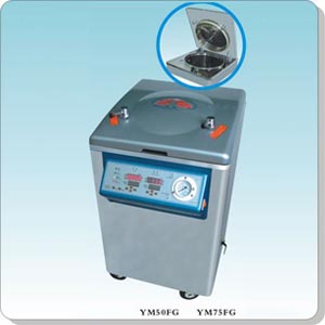 上海三申YM50FG立式壓力蒸汽滅菌器