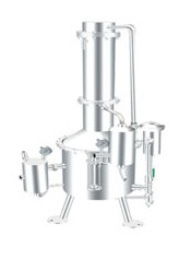 SHZ32-200不銹鋼塔式蒸汽重蒸餾水器    上海申安蒸餾水器