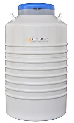 YDS-120-216配多層方提筒的液氮生物容器