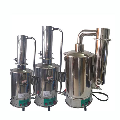 YA-ZD-10斷水自控不銹鋼電熱蒸餾水器