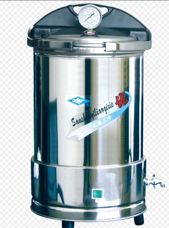 上海三申YX-280A手提式不銹鋼壓力蒸汽滅菌器