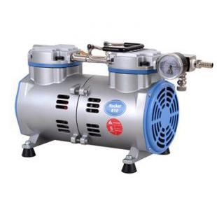 台湾洛科rocker810无油真空泵 活塞式真空泵 无油式真空泵 抽气泵 抽滤泵