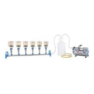 臺灣洛科鋁制六聯換膜過濾器 多聯抽濾套裝 六聯式過濾器 無菌過濾器 多聯過濾器