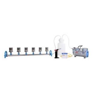 臺灣洛科不銹鋼六聯換膜過濾器 微生物檢測六聯式過濾器 真空抽濾套裝