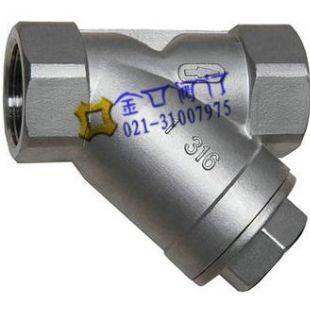 不锈钢内螺纹过滤器GL11H 台湾金口Y型过滤器