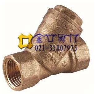 青铜Y型过滤器GL11W 青铜NPT螺纹过滤器