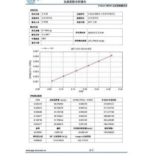 金埃谱静态容量法测比表面积