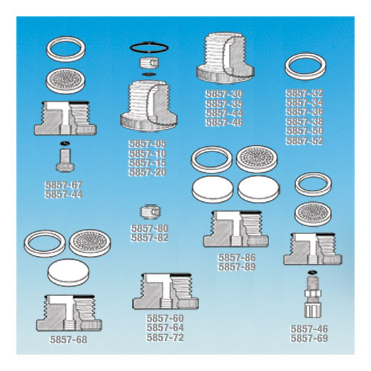 色谱柱底开口连接适配器,UHMWPE* 或 PTFE 材质