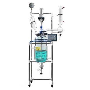 雙層玻璃反應釜(玻璃反應器)