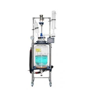 GR-100变频调速双层玻璃反应釜