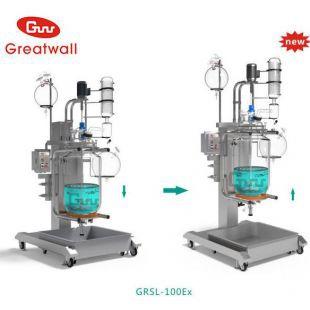 【郑州长城】大中型GRSL-80Ex升降双层玻璃反应釜【整机不锈钢】【防腐蚀】