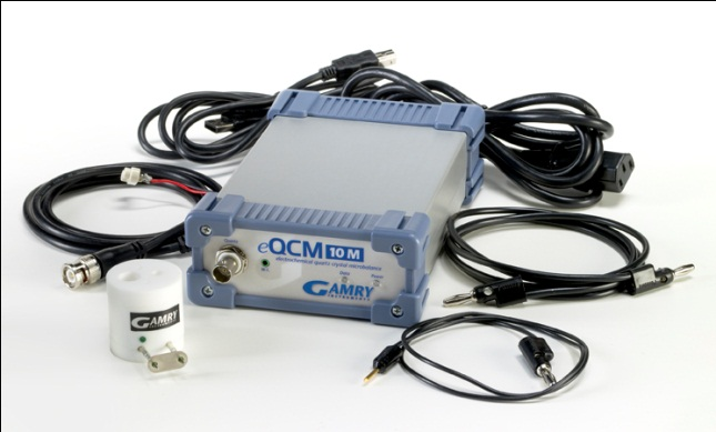 eQCM 10M is shipped with the Gamry Resonator Software