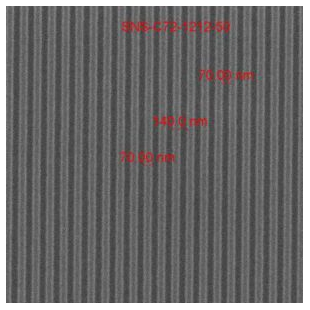 納米單晶硅襯底2D線性納米棒LIGHTSMYTH