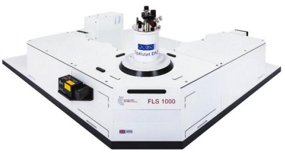 图 1. FLS1000 荧光光谱仪配置牛津液氮低温恒温控制器,用于测试低温下磷光光谱.png