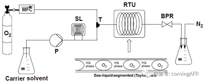 图2. 使用氧气进行钯催化烯烃裂解的连续流装置图.png