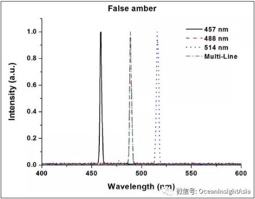 圖4.與天然琥珀不同,假琥珀沒有熒光反應。進一步的調查還揭示了恰帕斯州和波羅的海琥珀樣品的差異.png